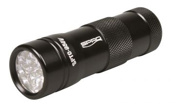 Spro 12-LED UV-Flash Torch SPLC95UV zwart lamp