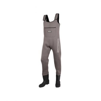 Spro 4mm Neoprene Chest Wader PVC Boot bruin - zwart waadpak M38