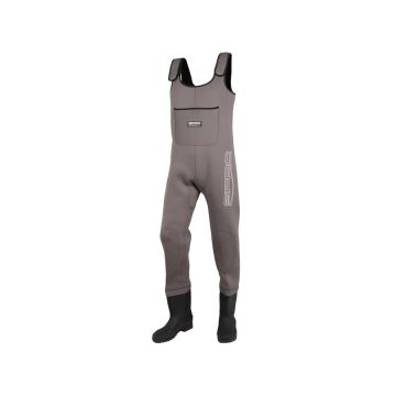 Spro 4mm Neoprene Chest Wader PVC Boot bruin - zwart waadpak M45