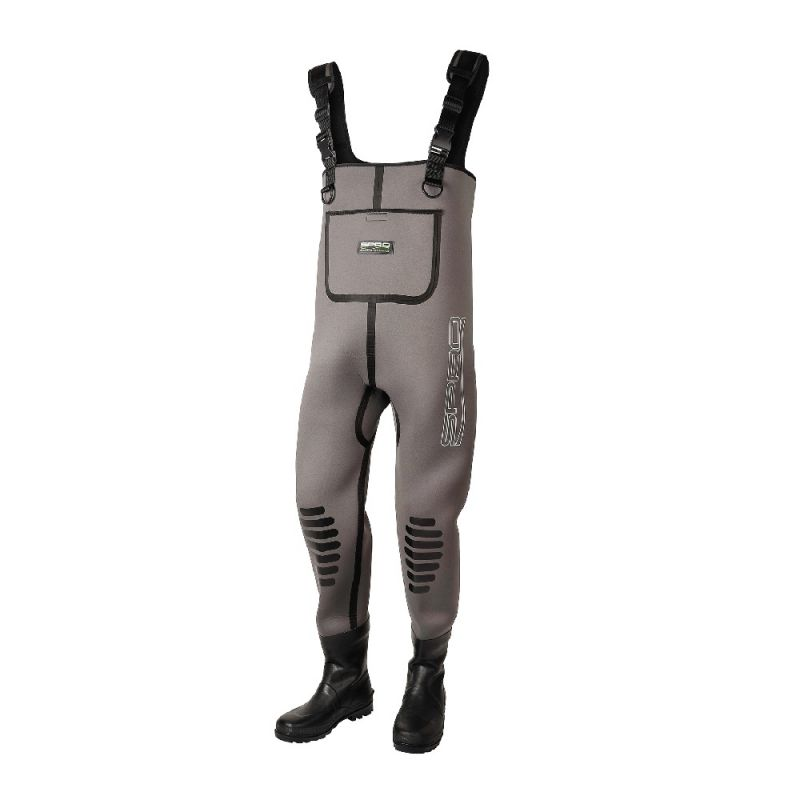 Spro 5mm Neoprene Chest Wader Rubber Boot bruin - zwart waadpak M44