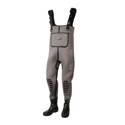 Spro 5mm Neoprene Chest Wader Rubber Boot bruin - zwart waadpak M46