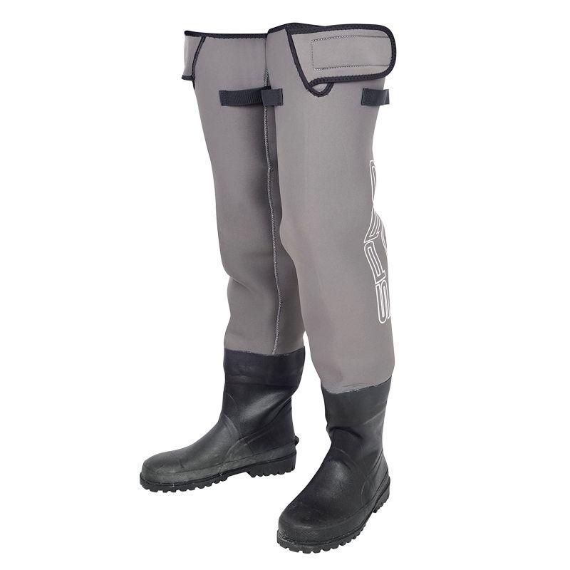 Spro Neoprene Hip Waders grijs - zwart waadpak M45