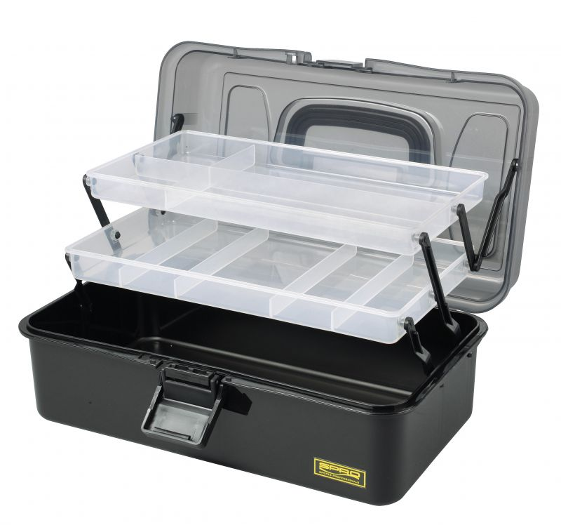 Spro Tackle Box 2-Tray noir  32.5x19x14.6cm