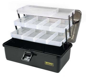 Tackle Box 3-Tray zwart