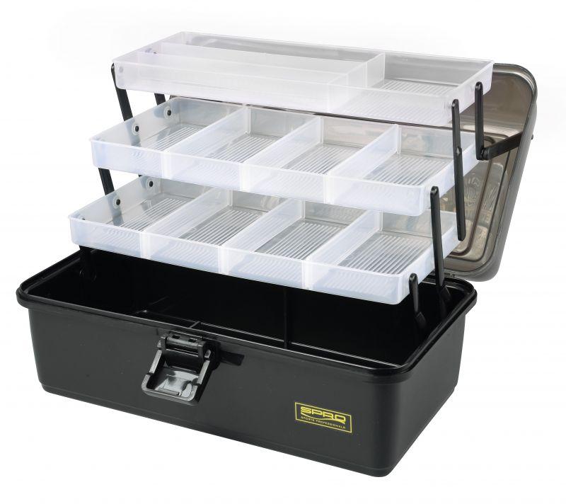 Spro Tackle Box 3-Tray zwart viskoffer 37x22x20cm