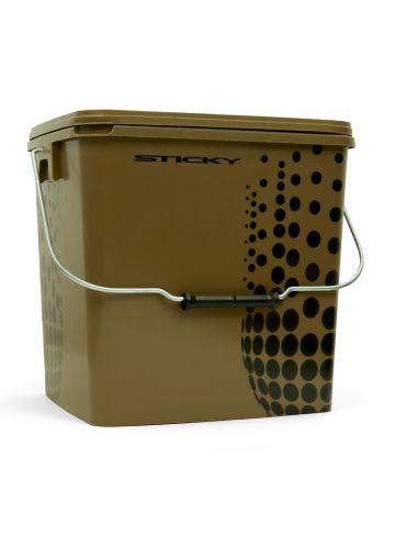 Sticky Baits Bucket bruin - zwart visemmer 13l