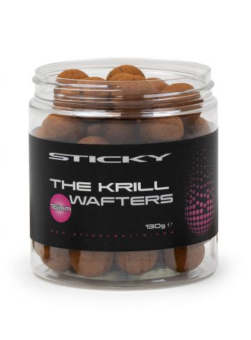 Sticky Baits The Krill Wafters bruin karper pop-up boilies 16mm 130g