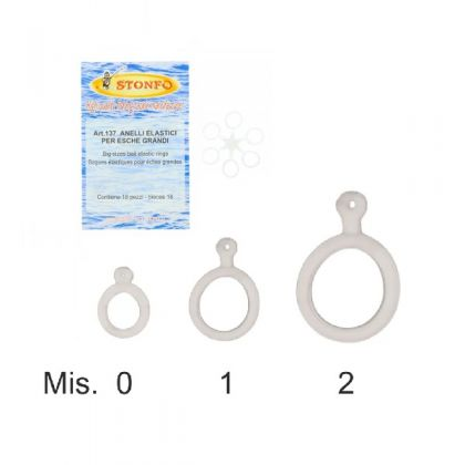 Stonfo Anelli Elastic Grandi clear klein vismateriaal Size 1 10-18mm