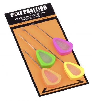 Strategy Glow In The Dark Needle Set 4-kleuren karper rig accessoire