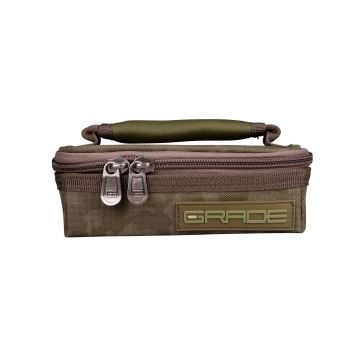Strategy GRADE Lead & Accessory Pouch S groen karper karpertas 12x16x5cm