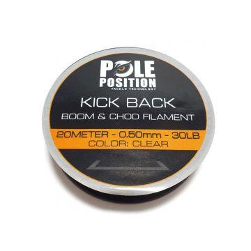 Strategy Kick Back Boom & Chod Filament clear karper draad voor onderlijn 0.50mm 20m