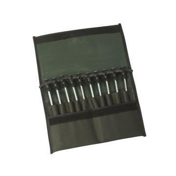 Strategy Peg-Set zwart - zilver karper tent accessoire