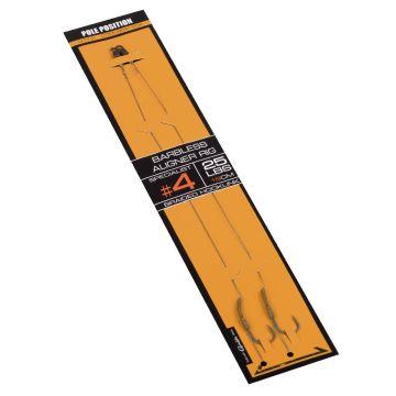 Strategy Pole Position Aligner Rig Barbless bruin - zilver karper rig accessoire H4 25lb
