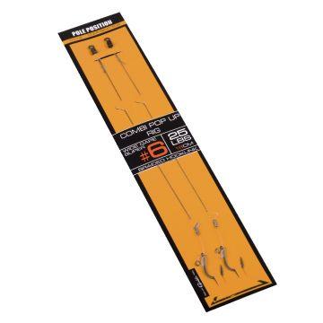 Strategy Pole Position Combi Pop-up Rig bruin - zilver karper rig accessoire H8 25lb