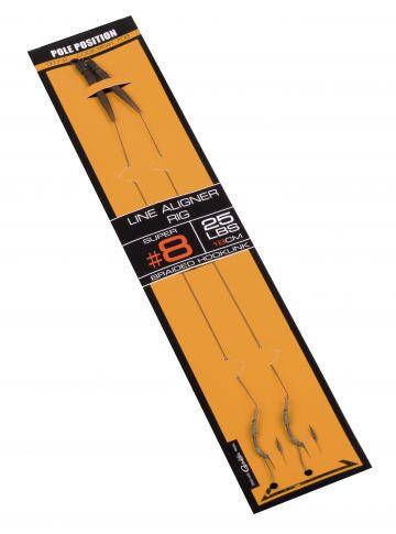 Strategy Pole Position Line Aligner Rig bruin - zilver karper karper onderlijn H6 25lb