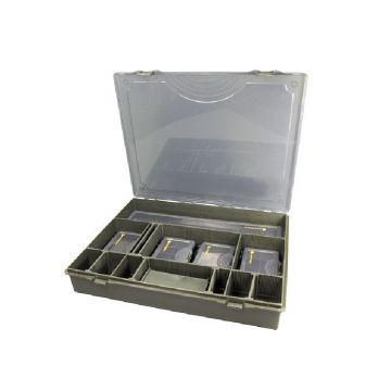 Strategy Tackle Box System Complete groen karper visdoos
