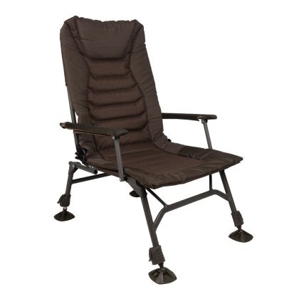Strategy Throne 61 Chair bruin - groen visstoel karperstoel 62x52x50cm