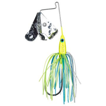 Strike King Tri-Wing Mini Buzz King chartreuse blue roofvis spinnerbait 3.5g