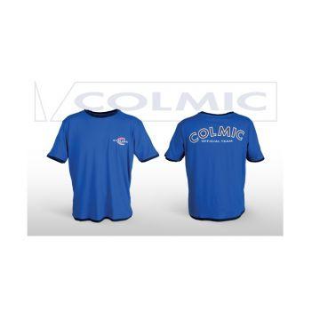 T-Shirt COLMIC blauw - wit - rood vis t-shirt Xl