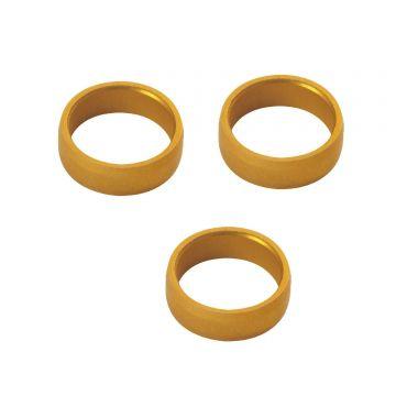 Target Slot Lock Rings 3 pcs goud 2mm
