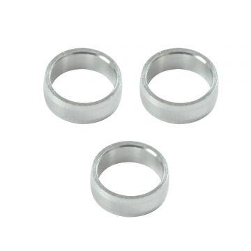 Target Slot Lock Rings 3 pcs plain silver 2mm