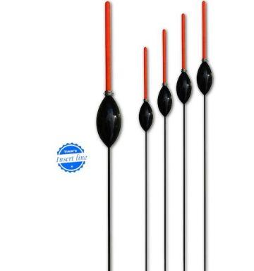 Timms Lambert (lang) zwart witvis visdobber 0.30g