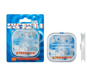 Trabucco Super Elite T1 Monofilament clear visdraad 0.10mm 50m 2.05kg