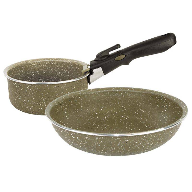 Trakker Armolife Marble Cookset groen - wit Compact
