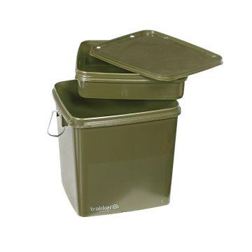 Trakker Square Bucket olive visemmer 13l