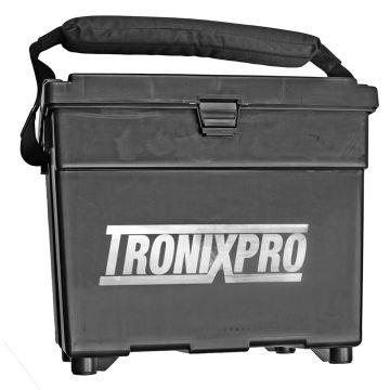 Tronixpro Beach Seat Box zwart zeevis visbak