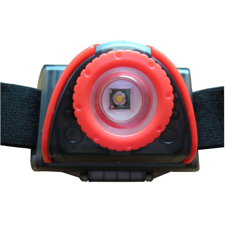 Tronixpro Multi Function Headlamp zwart - rood lamp
