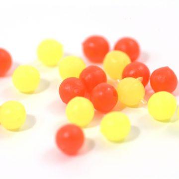 Tronixpro Round Beads geel - rood zeevis klein vismateriaal 3mm