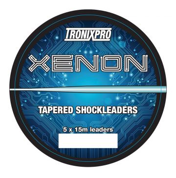 Tronixpro Xenon Tapered Leaders clear zeevis visdraad 35° - 60° 5 X 15m