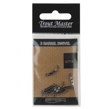 Troutmaster 3-Jointed Rolling Swivel nickel  16 5kg
