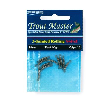 Troutmaster 3-Jointed-Swivel nickel viswartel 14