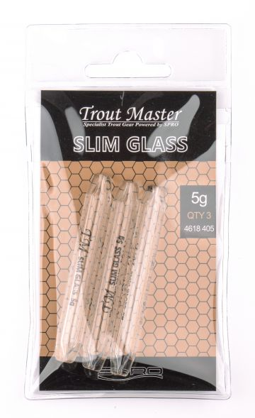 Troutmaster Glass clear forel klein vismateriaal 5.00g