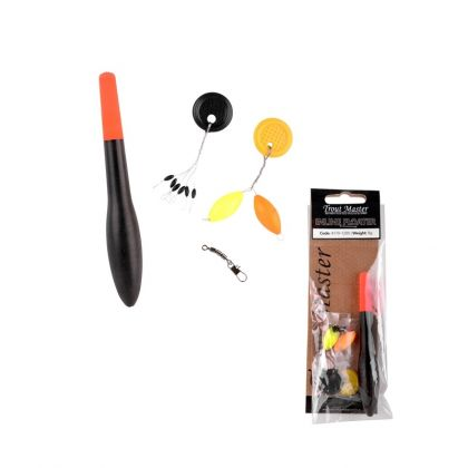 Troutmaster In-Line Floater set noir - rouge  8.00g