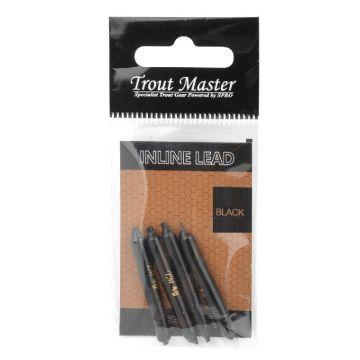Troutmaster Inline Lead zwart forel klein vismateriaal 2.00g