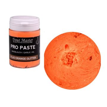 Troutmaster Pro Paste fluo orange glitter forel forelaas 60g