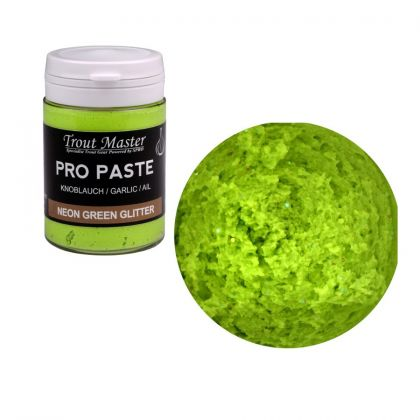 Troutmaster Pro Paste neon green glitter forel forelaas 60g