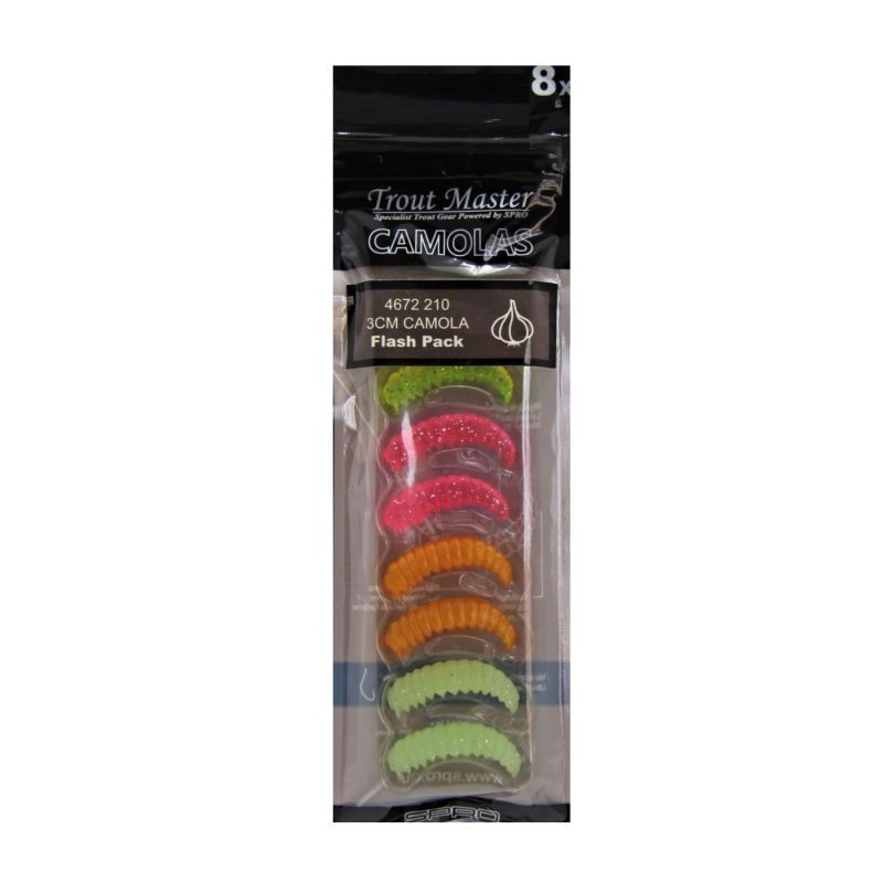 Troutmaster Real Camola flash pack forel forelaas 3cm