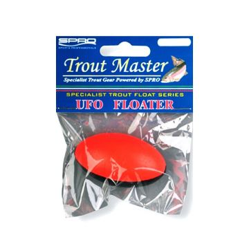 Troutmaster Ufo Floater noir - rouge  8g