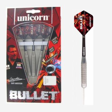 Unicorn Bullet Gary Anderson P1 Stainless Steel zwart - zilver 22g