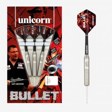Unicorn Bullet Gary Anderson P2 Stainless Steel zwart - zilver 23g