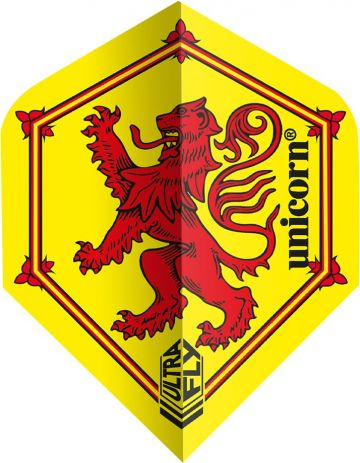 Unicorn Ultrafly Flag Caledonian Std. geel - rood 100 Micron