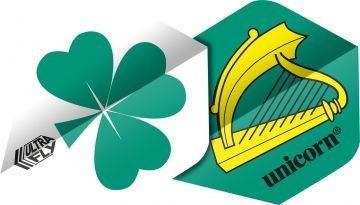Unicorn Ultrafly Flag Shamrock Std. geel - wit - groen 100 Micron