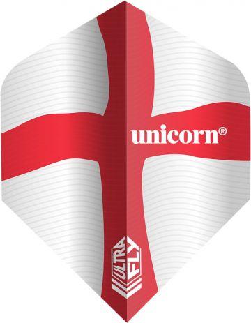 Unicorn Ultrafly Flag St. George Std. rood - wit 100 Micron