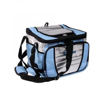 Vercelli Cooler Bag BLAUW - GRIJS - ZWART zeevis vistas 20l