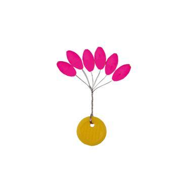 Vercelli Stopper Oval Luminus pink parel 11x5.6mm