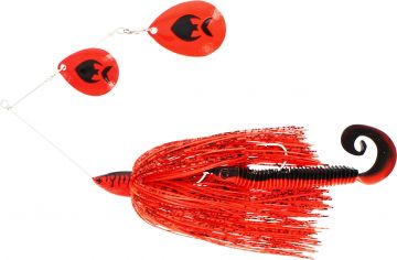 Westin Monster Vibe Colorado red tiger roofvis spinnerbait 65g